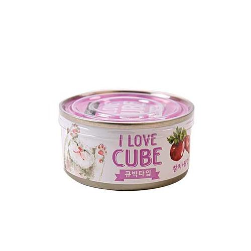뉴웨이브캔 C참치닭간 큐브 80g 고양이간식